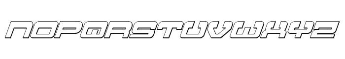 Atlantia 3D Italic Font LOWERCASE