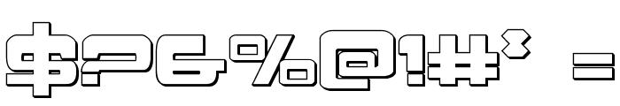Atlantia 3D Regular Font OTHER CHARS