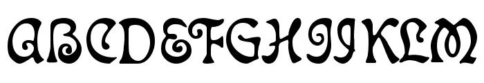 Atlantis Medium Font UPPERCASE