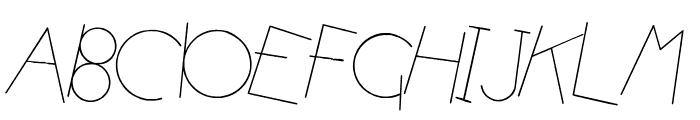 Atomic Pasta  Italic Font UPPERCASE
