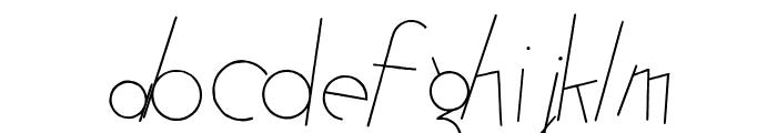 Atomic Pasta  Italic Font LOWERCASE