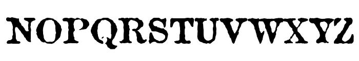 Attic Font UPPERCASE