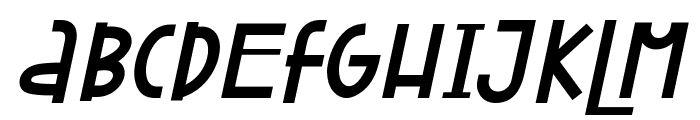 Attracted Monday Italic Font UPPERCASE