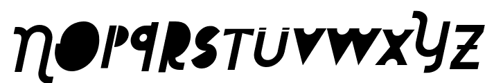 Attracted Monday Italic Font LOWERCASE