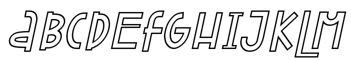Attracted Monday Outline Italic Font UPPERCASE