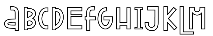 Attracted Monday Outline Font UPPERCASE