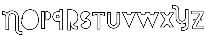 Attracted Monday Outline Font LOWERCASE