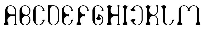 atomic Font UPPERCASE