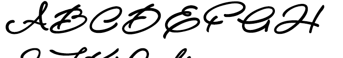 Atelas Regular Font UPPERCASE