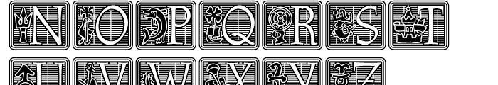 Athenaeum Initial Negative Font UPPERCASE