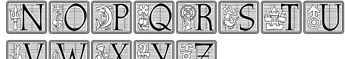 Athenaeum Initial Positive Font UPPERCASE