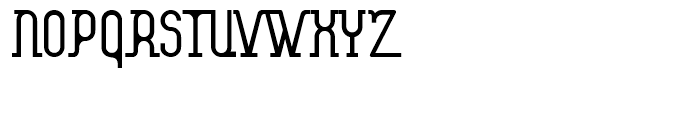 Atom Straight Font UPPERCASE