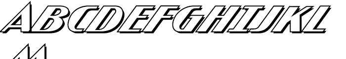 Atomic Wedgie Outline Font UPPERCASE