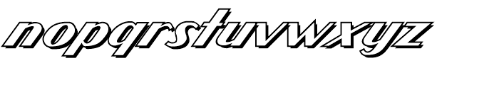 Atomic Wedgie Outline Font LOWERCASE