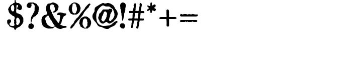 Attic Antique Regular Font OTHER CHARS