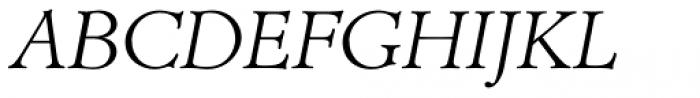 AT Administer Light Italic Font UPPERCASE