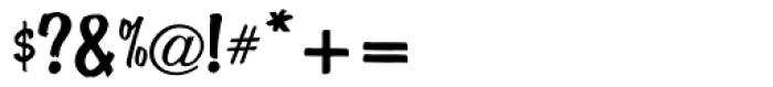 ATBrophy Script Font OTHER CHARS