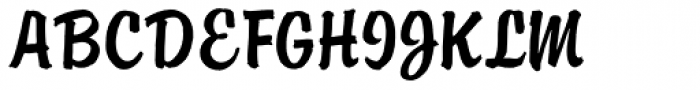 ATBrophy Script Font UPPERCASE