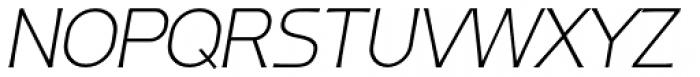 Ata 36 Extra Light Slant Font UPPERCASE