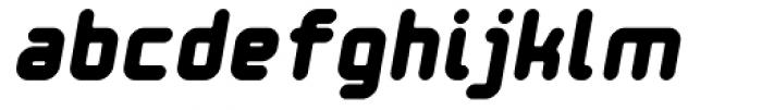 Ataribaby Bold Oblique Font LOWERCASE