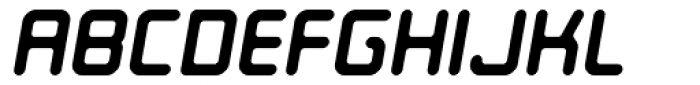Ataribaby Oblique Font UPPERCASE