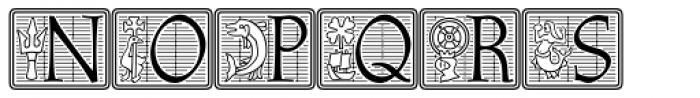 Athenaeum Std Initial Positive Font UPPERCASE