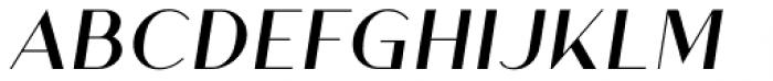 Athens Regular Italic Font UPPERCASE
