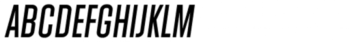 Athletic Condensed Slanted Font UPPERCASE