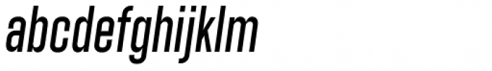 Athletic Condensed Slanted Font LOWERCASE