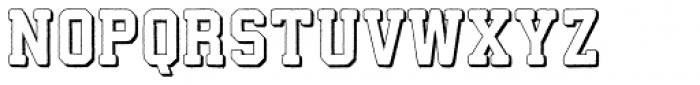 Athletico 3D Font LOWERCASE