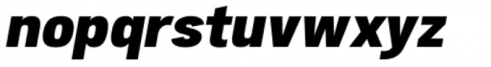 Atiga Black Italic Font LOWERCASE