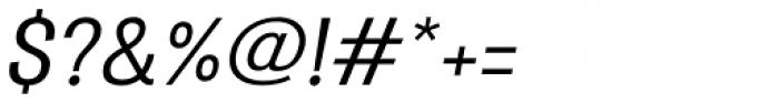Atiga Medium Italic Font OTHER CHARS