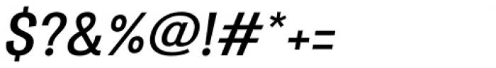 Atiga Semi Bold Italic Font OTHER CHARS