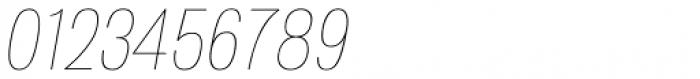 Atiga Thin Italic Font OTHER CHARS