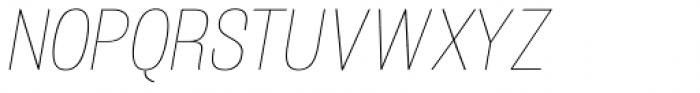 Atiga Thin Italic Font UPPERCASE
