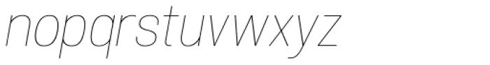 Atiga Thin Italic Font LOWERCASE