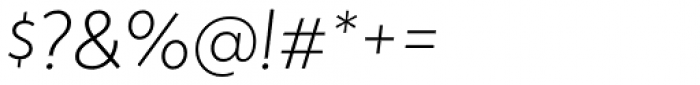 Atlan Extra Light Italic Font OTHER CHARS