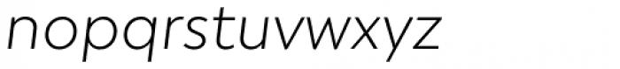 Atlan Extra Light Italic Font LOWERCASE