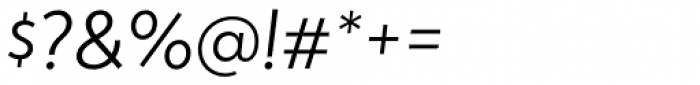 Atlan Light Italic Font OTHER CHARS