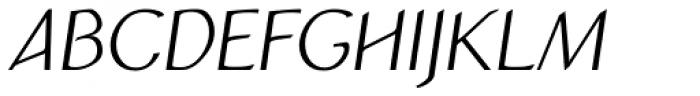 Atlantic Sans OSF Italic Font UPPERCASE