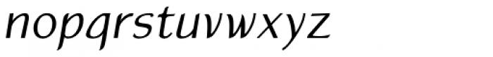 Atlantic Sans OSF Italic Font LOWERCASE