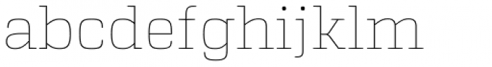 Atletico Thin Font LOWERCASE