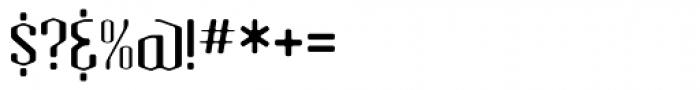 Atomic Sans ICG Font OTHER CHARS