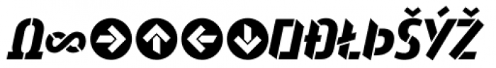 Attack Bold Expert Font UPPERCASE
