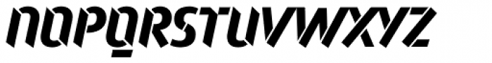 Attack Bold LF Font UPPERCASE