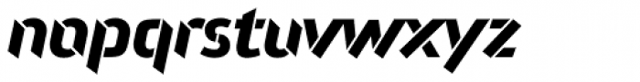 Attack Bold LF Font LOWERCASE