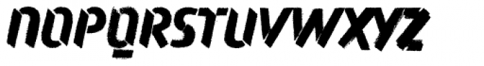 Attack Rough Font UPPERCASE