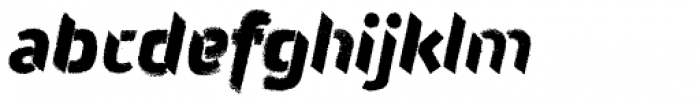 Attack Rough Font LOWERCASE