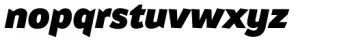 Attention Pro Black Italic Font LOWERCASE