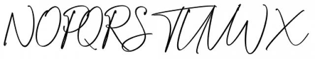 Attention Script Font UPPERCASE